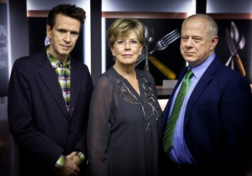 Great British Menu judges Oliver Peyton, Prue Leith and Matthew Fort